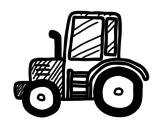Dibujo de Tractor Lamborghini para colorear