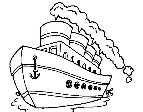 imagenes de barcos para colorear: