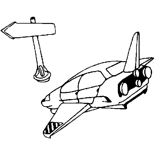 Dibujo de Tránsito espacial para Colorear