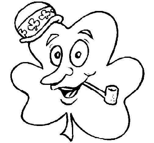 Dibujo de Trébol de la suerte para Colorear