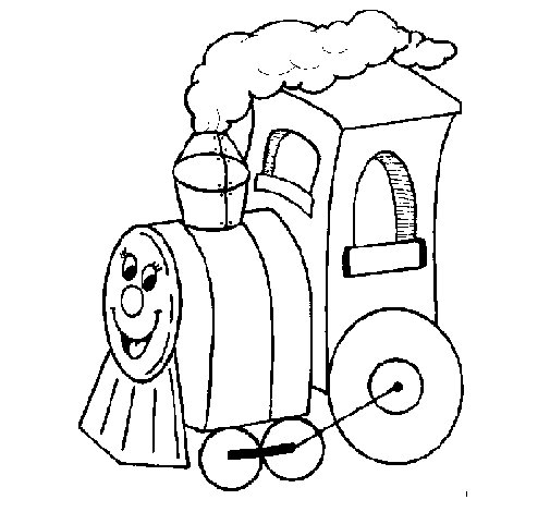 Dibujo de Tren 4 para Colorear