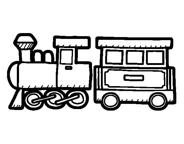 Dibujo de Tren alegre para Colorear