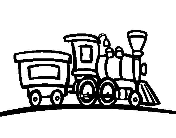 Dibujo de Tren con vagón para Colorear