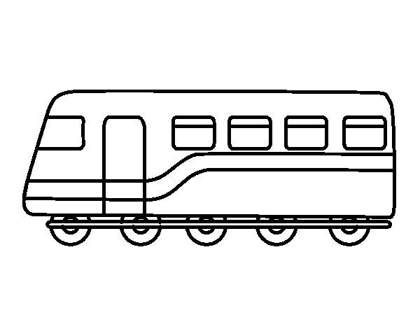 Dibujo de Tren de pasajeros para Colorear