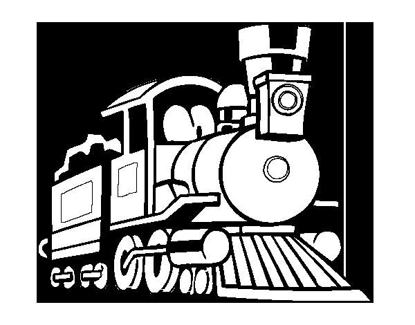 Dibujos Divertidos Para Colorear: Dibujo De Tren Divertido Para Colorear
