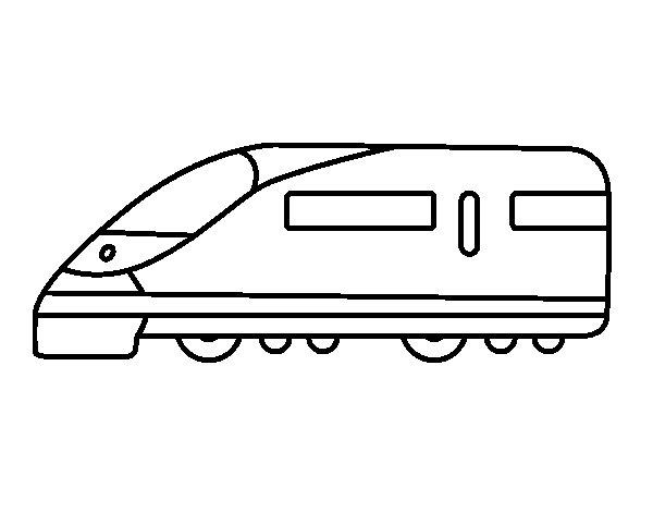 Dibujo de Tren rápido para Colorear