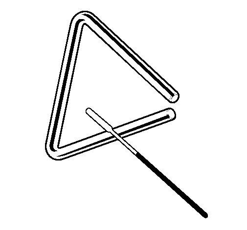 Dibujo de Triángulo para Colorear