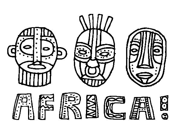 Dibujo de Tribus de África para Colorear