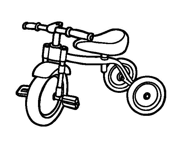 Dibujo de Triciclo para niños para Colorear