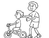 Dibujo de Triciclo para colorear
