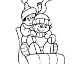 Dibujo de Trineo 1 para colorear