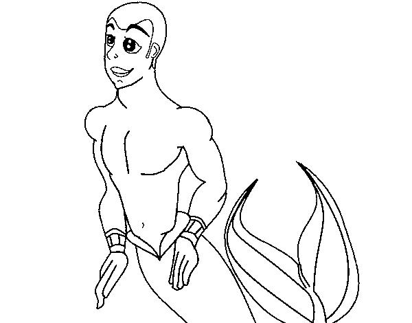 Dibujo de Tritón para Colorear