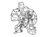 Dibujo de Trol cíclope