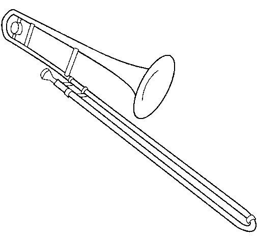 Dibujo de Trombón para Colorear
