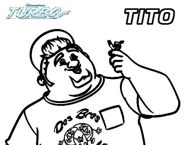 Dibujo de Turbo - Tito para Colorear