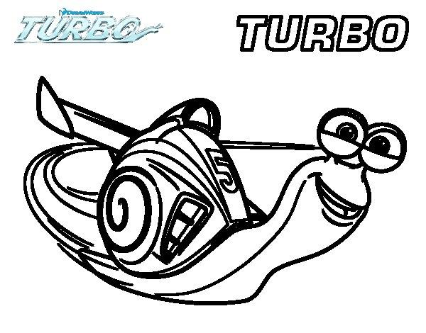 Dibujo de Turbo para Colorear  Dibujosnet