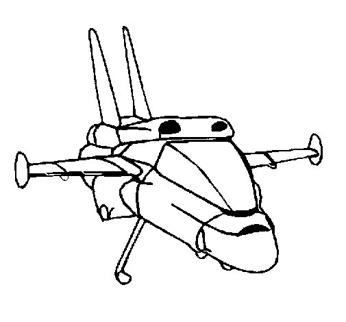 Dibujo de Turbo nave para Colorear