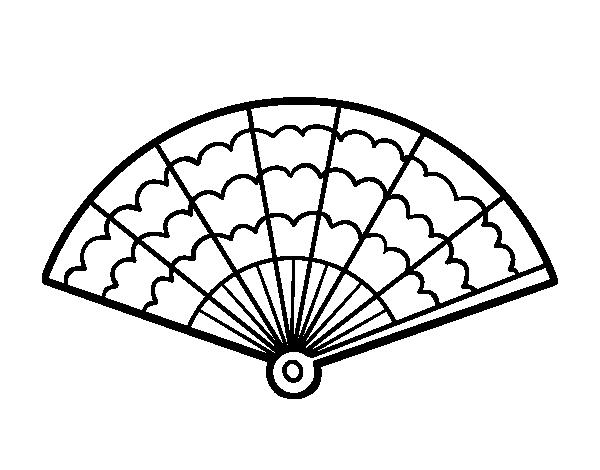 Dibujo de un abanico para colorear - Coloriage espagnol ...
