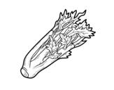 Dibujo de Un apio para colorear