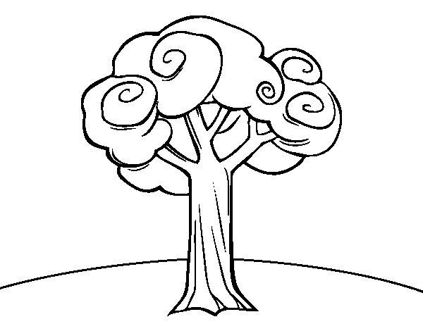 Dibujo de Un árbol grande para Colorear