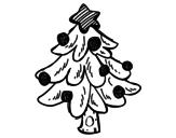Dibujo de Un árbol Navidad para colorear