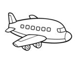 Dibujo de Un avión de pasajeros