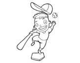 Dibujo de Un bateador para colorear
