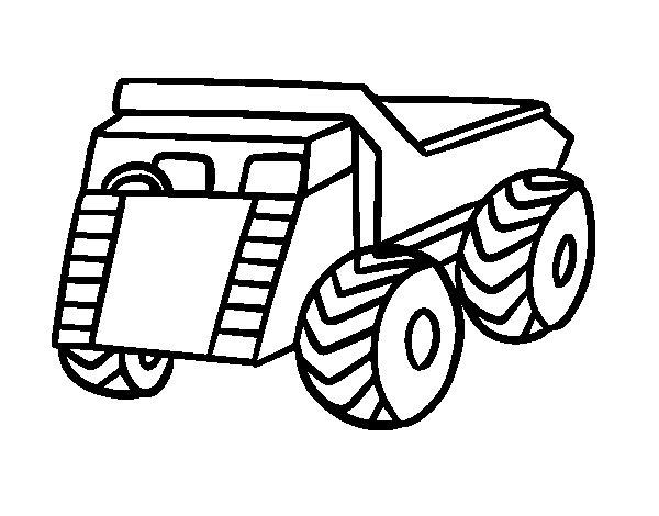 Dibujo de Un camión de carga para Colorear