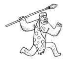 Dibujo de Un Cavernícola para colorear