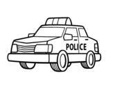 Dibujo de Un coche de policía