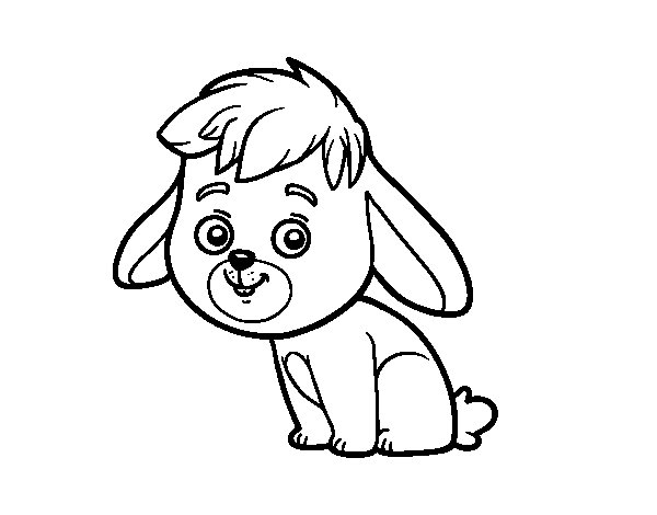 Dibujo de Un conejo de campo para Colorear