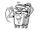 Dibujo de Un contenedor