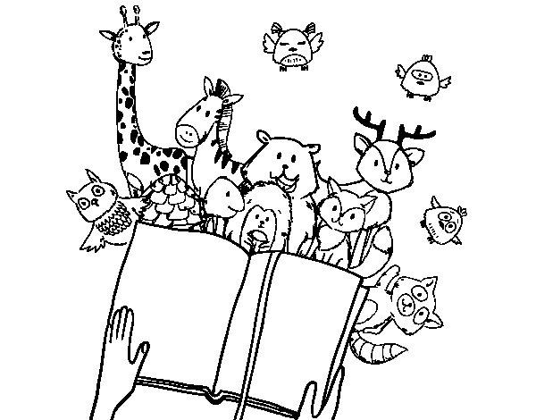 Dibujo de Un cuento de animales para Colorear