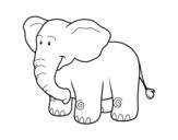 Dibujo de Un elefante africano