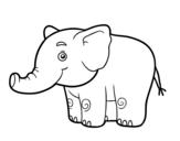 Dibujo de Un elefantito para colorear