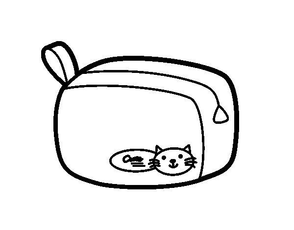 Dibujo de Un estuche para Colorear