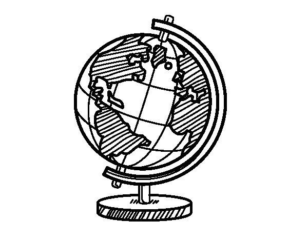 Dibujo de Un globo terráqueo para Colorear