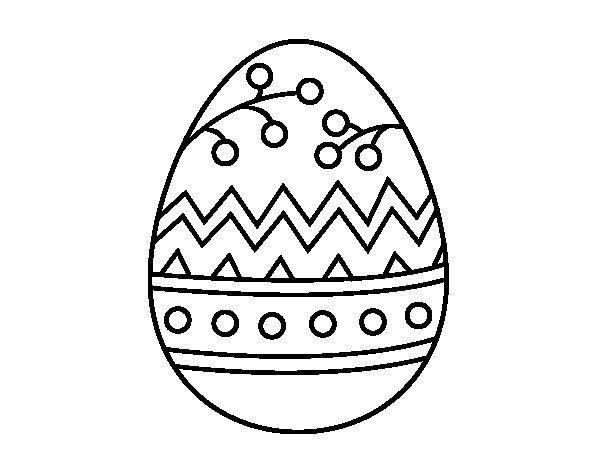 Dibujo de Un huevo de Pascua para Colorear  Dibujosnet