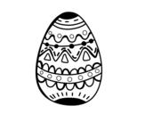 Dibujo de Un huevo de pascua decorado para colorear