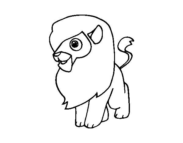 Dibujo de Un len para Colorear  Dibujosnet