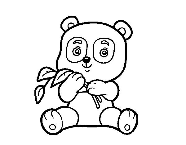 Dibujos De Osos Con Corazones Para Colorear: Dibujo De Un Oso Panda Para Colorear