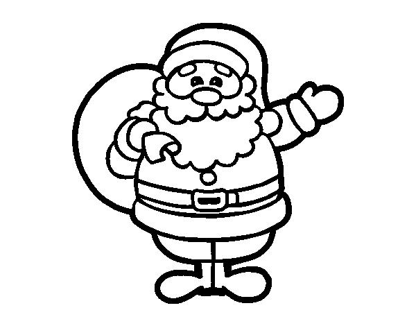 Dibujo de Un Papá Noel para Colorear - Dibujos.net