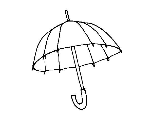 Dibujo de Un paraguas para Colorear