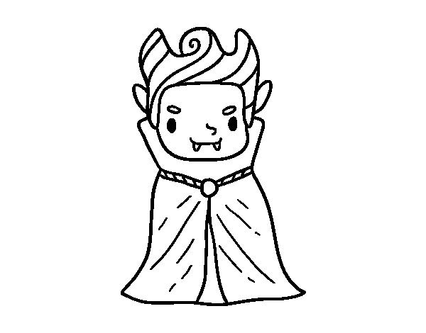 Dibujo De Un Peque O Vampiro Para Colorear