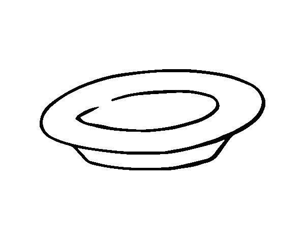 Worksheet. Dibujo de Un plato para Colorear  Dibujosnet