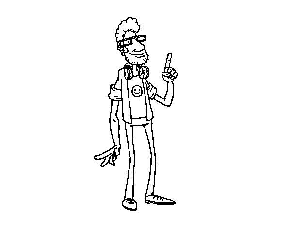 Dibujo de Un programador para Colorear