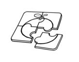 Dibujo de Un puzzle para colorear