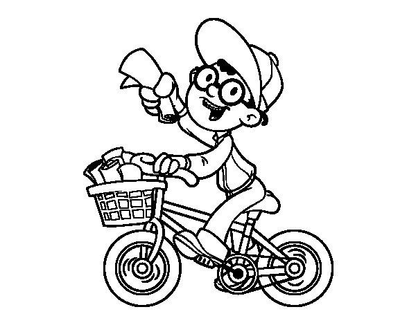Dibujo de Un repartidor para Colorear