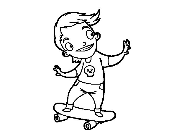 Dibujo de Un skater para Colorear