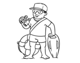 Dibujo de Un socorrista